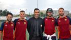 Mister Seleman con lo staff tecnico: Santoloci,  Tanchella e Pentenè.